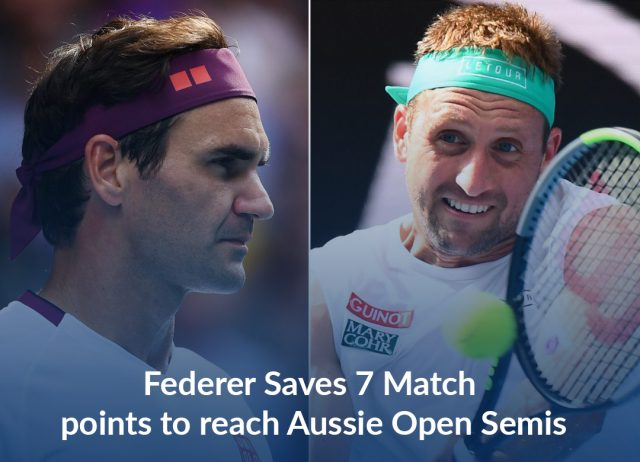 Federer Saves 7 Match-Points to Reach Aussie Open Semi-final