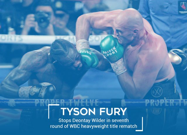 Fury wins in Rematch vs Wilder