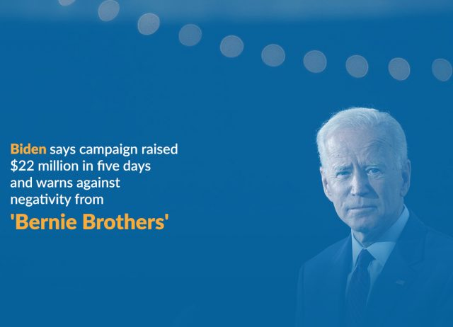 Biden Warns Against Bernie Brothers