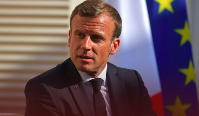 Macron condemns the knife attack