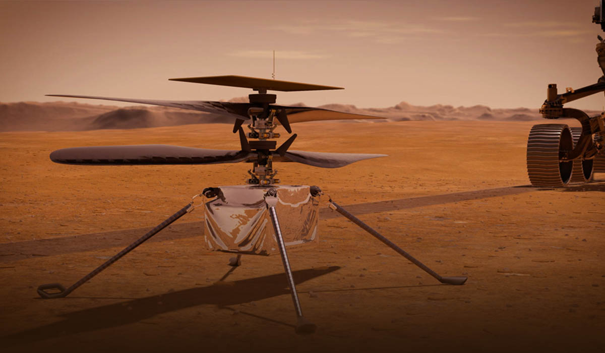 The first Ingenuity Helicopter calls Earth from Mars