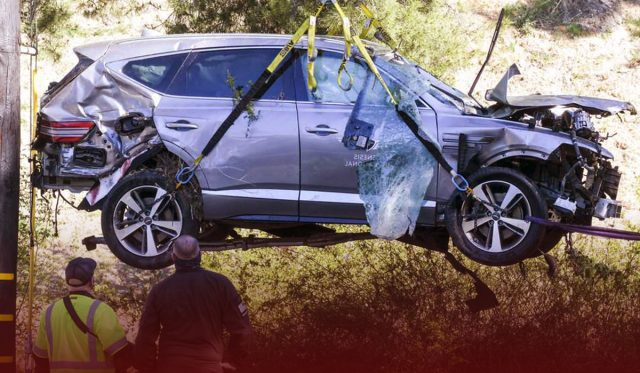 Tiger Woods found alive with serious leg injuries in a car wreck