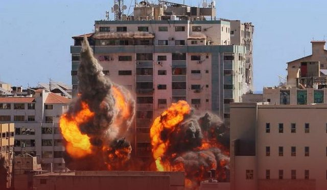 Israeli Forces Bombed a Gaza Refugee Camp' House & news offices