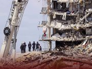 Families of the Missing Visit the Florida Building Collapse Site