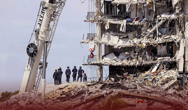Families of the Missing Visit the Florida Building Condo Collapse Site
